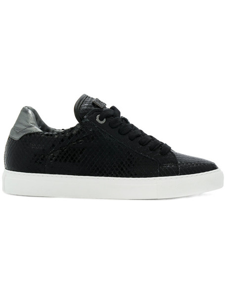 Zadig & Voltaire women sneakers leather black shoes