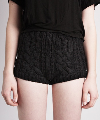 Cable knit shorts by stolen girlfriends club ($100