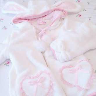 sweater bunny bows jumper jacket
