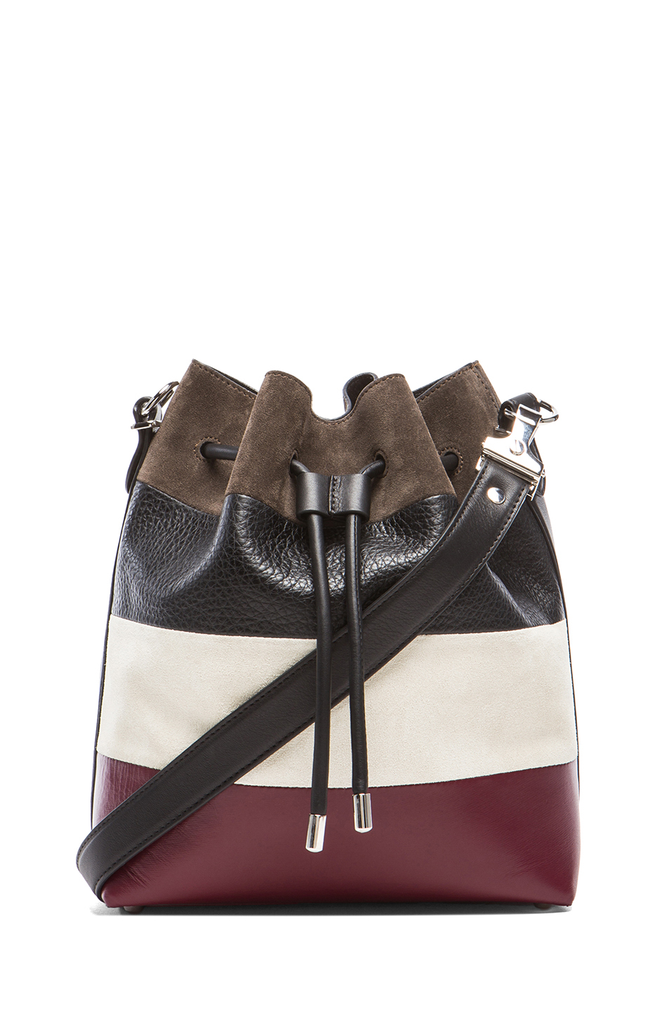 Proenza Schouler | Medium Suede & Leather Bucket Bag in Multi