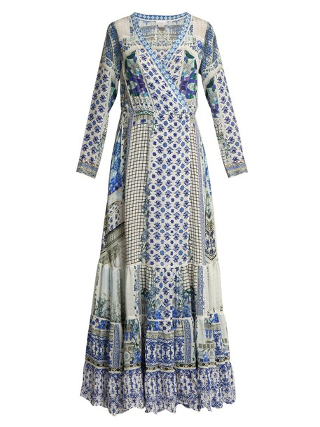 dress maxi dress summer maxi silk blue