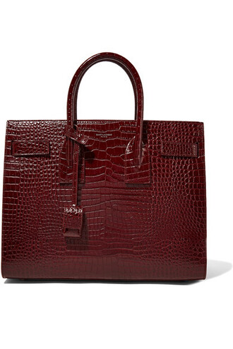 leather burgundy bag