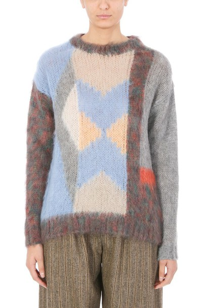 jumper mohair wool multicolor sweater