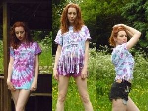 Tie Dye T SHIRT Grunge Skater Hipster Acid wash Medium Large