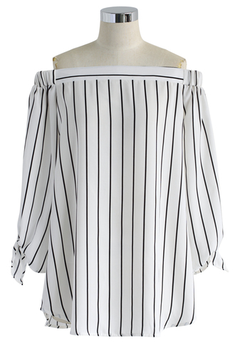 top stripes black and white tunic