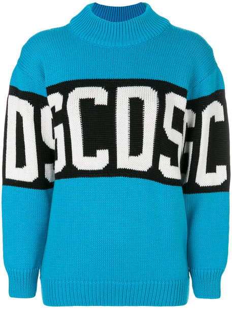 GCDS jumper women blue sweater