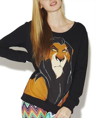 scar lion king disney pullover sweatshirt sweater