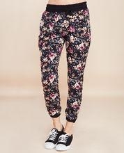 Femme floral zip pocket joggers