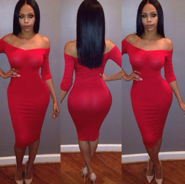d7d48470a5 dress red dress trendy bodycon dress midi dress off the shoulder dress sexy dress  valentines day
