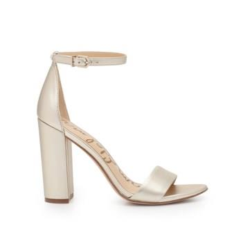 Sam Edelman Yaro Block Heel Sandal Light Gold Leather