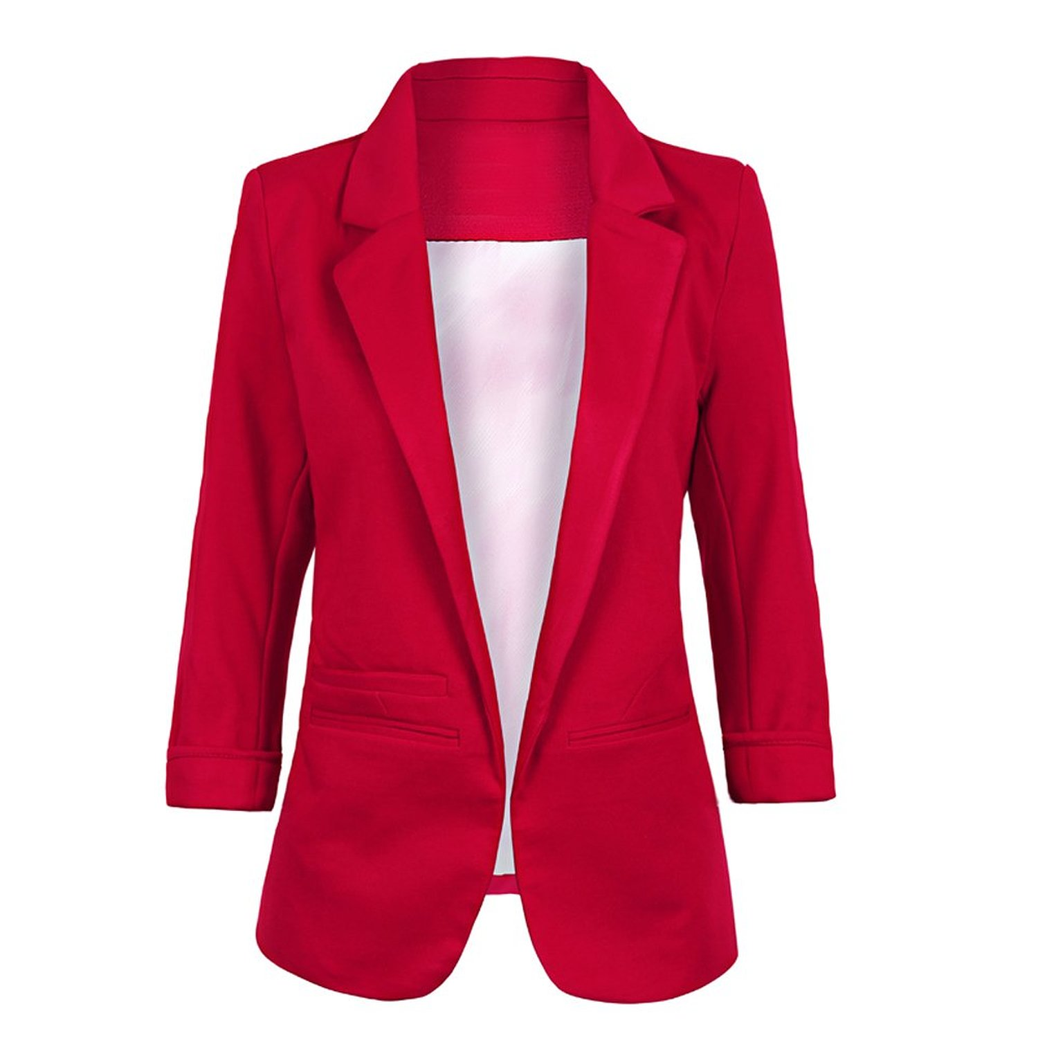 Nanafast women's boyfriend ponte rolled sleeves blazer at amazon women's clothing store: