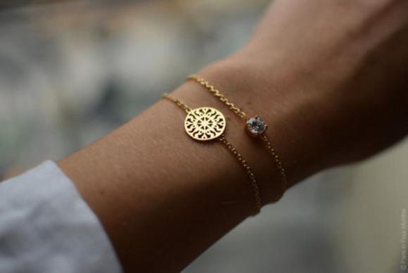 jewels bracelets golden girly romantic classy trendy beautiful diamonds cute gold accessories gem diamonds vintage bracelet gold gorgoeus