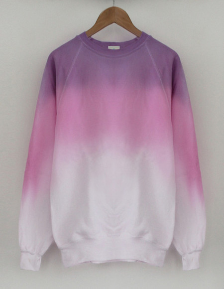 sweater sweatshirt tie dye oversized sweater watercolor, watercolour, watercolor dress, watercolour dress, crewneck sweater ombre hipster swag awesome pink white purple cute gradient gradient purple gradient sweater coloful color block cool urban fashion tumblr ombre bleach dye tye dye jacket jumper baggy