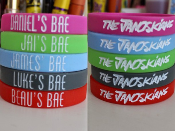janoskians band merch bracelets
