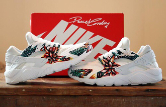 shoes nike boy shoes floral white shoe white shoes fancy shoes guys girls nike haraches nike huraches