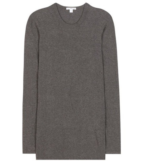 James Perse Cotton-blend Long-sleeved T-shirt in grey