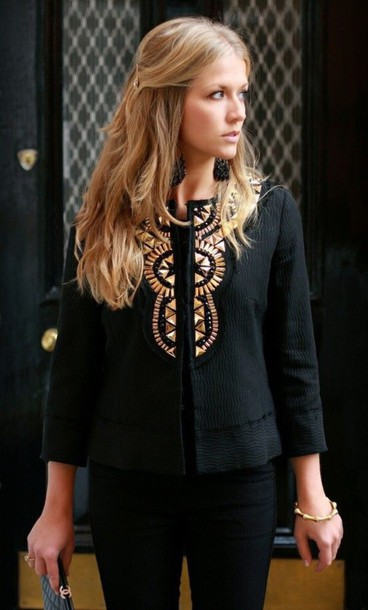 jacket black and gold