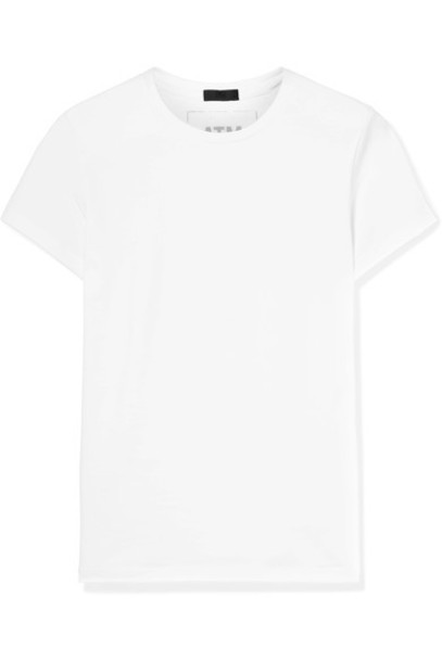 ATM Anthony Thomas Melillo t-shirt shirt t-shirt white cotton top
