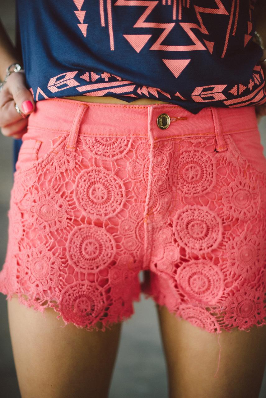 Sunrise lace shorts