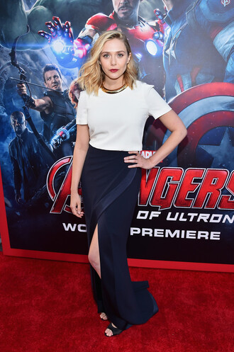 dress gown elizabeth olsen