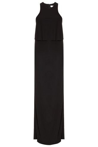 gown back black dress