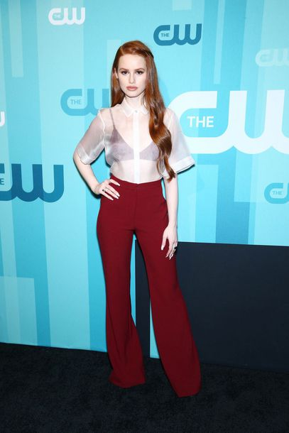 blouse top pants madelaine petsch