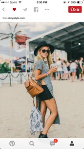 boho,slit,knit shirt,grey,brandy melville,sunglasses,slit top,knitwear,black fedora,black hat,black shorts,brown leather bag,leather backpack,ankle boots,buckle boots,skeleton,mini backpack,bag,leather bag,fashion,cool hunter,festival,brown bag,backpack,hat,top,ribbed,ribbed top,grey top,long top,shorts,boots,black boots,brown backpack,scarf