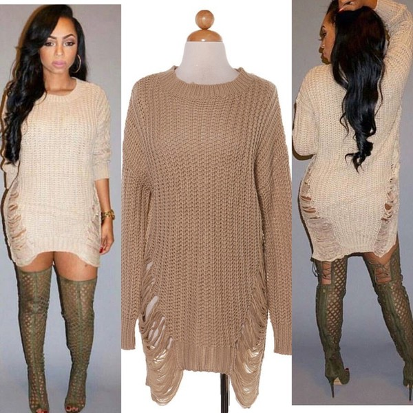 Shredded Sweater - Pink - Clothes at Gypsy Warrior