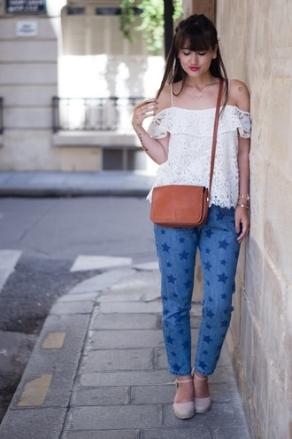 meet me in paree blogger jeans top shoes bag