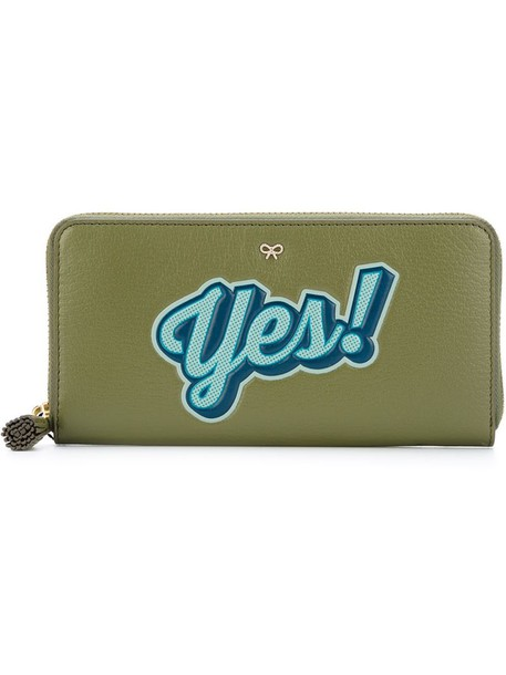 Anya Hindmarch zip women purse green bag
