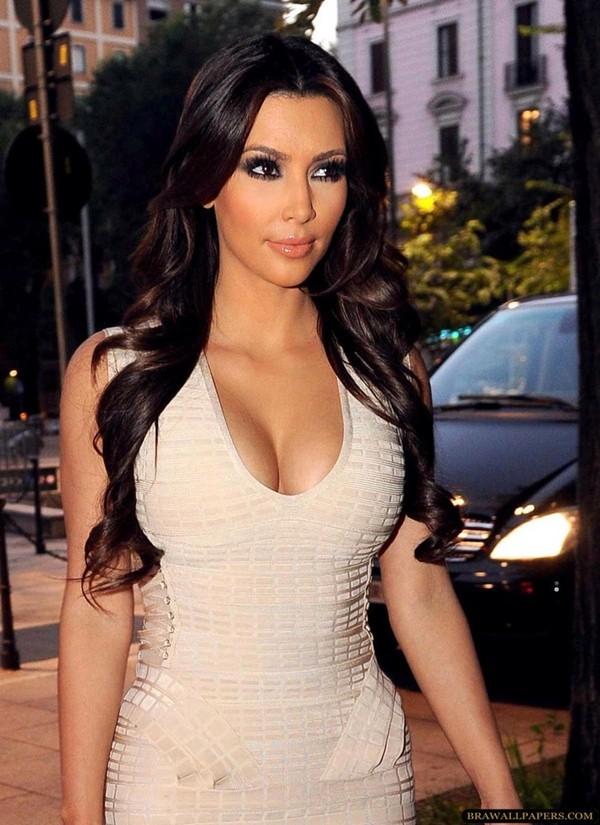 dress kim kardashian white sexy