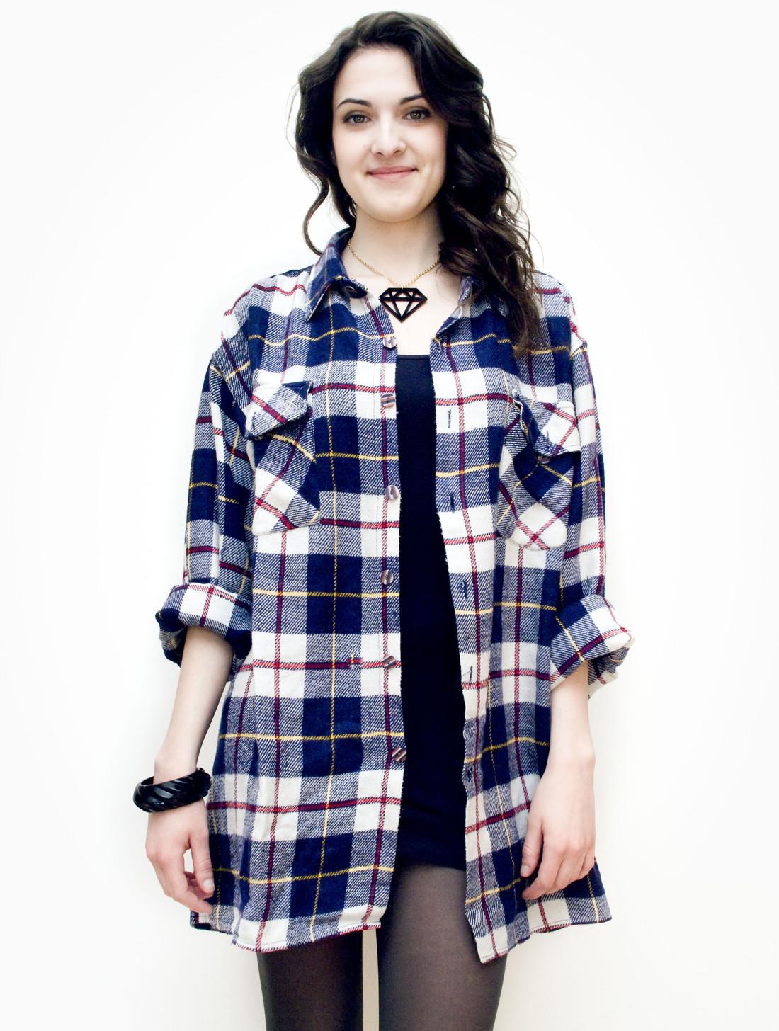 Oversized flannel shirt - Pop Sick Vintage