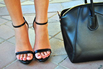 bag high heels shoes