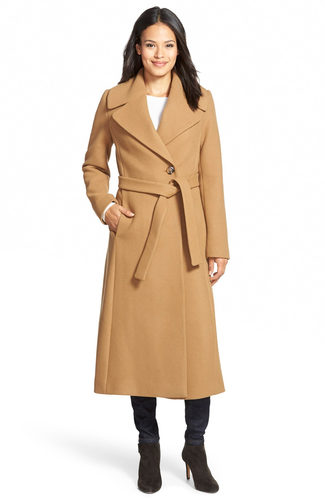 Blake Long Wool Blend Wrap Coat (Regular & Petite) | Nordstrom