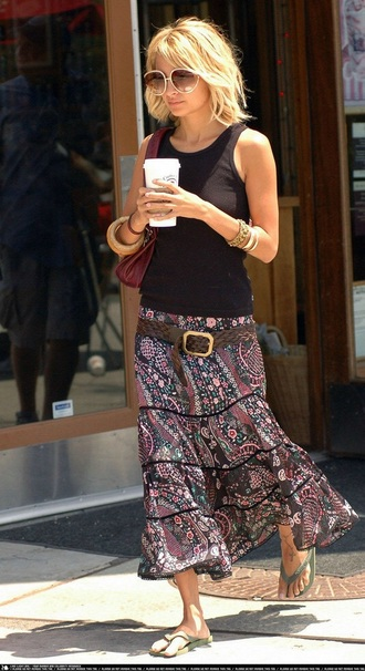 skirt nicole richie floral skirt paisley