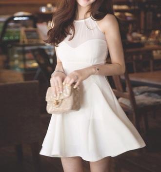 dress white skater dress rose wholesale cute dress style girly white dress skater dress hippie white