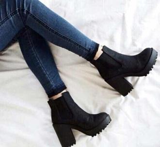 shoes black platforms