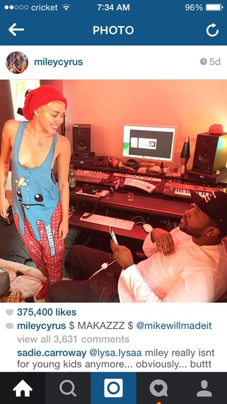 jumpsuit miley cyrus mikewillmadeit