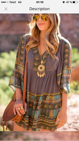 blouse brown tunic boho