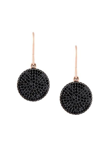Astley Clarke rose gold rose women earrings gold black jewels