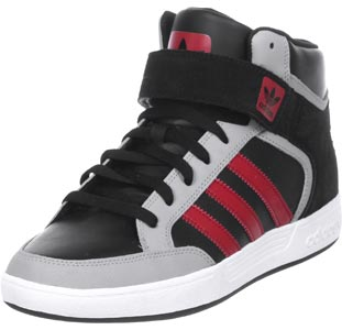 Adidas varial mid schuhe schwarz grau rot