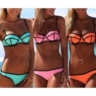 hat hot bikini swimwear hot bikini colorful sexy cute lovely