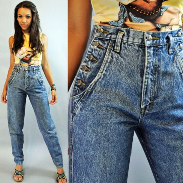 High Waisted Cropped Jeans Billie Jean