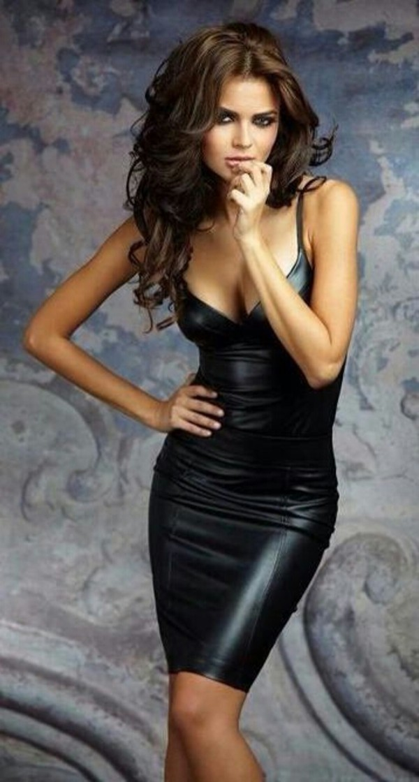 dress leather black black dress leather black dress leather dress sexy little black dress