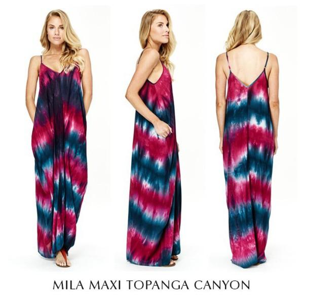 dress lovestitch maxi dress tie dye dress dress