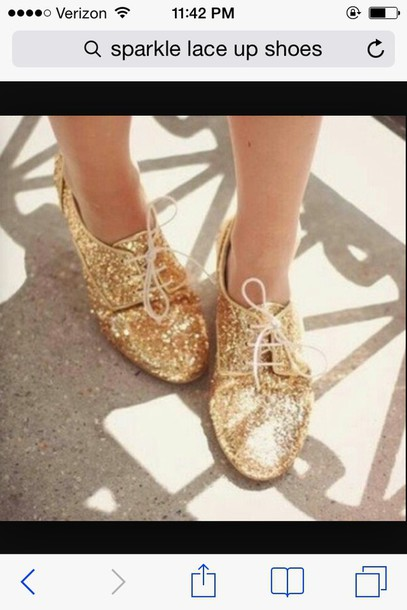 shoes lace up sparkly flats