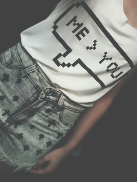 shirt grunge print top shorts grey cross ripped shorts rock punk dark t-shirt