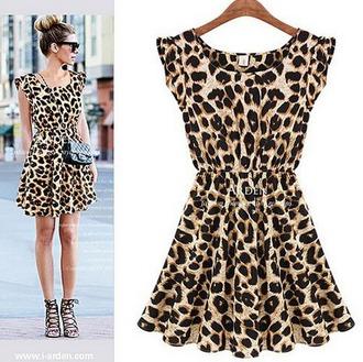dress leopard print black