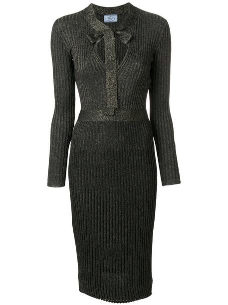 dress bow metallic women black