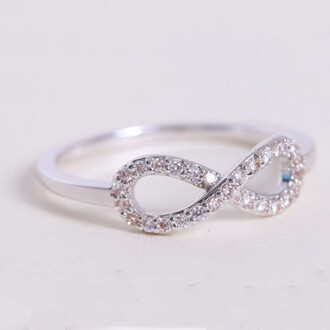 jewels white gold / rose gold plated cubic zirconia inlaid infinity ring evolees.com women fashion rings women rings infinity ring best friends infinity ring